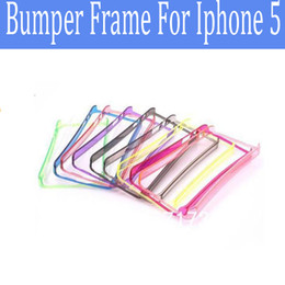 Cell Phone Bumper Cover for Iphone5 Crystal Frame Bumper Case for iphone 5 TPU Frame Case Cover 50pcs