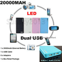 Wholesale Beautiful Gift mAh Portable Wallet style With LED Power Bank External Battery Backup Pack Universal Dock Cell Phone Chargers Dual USB