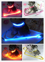 Wholesale Nylon LED Pet Shop Flashing Light Up Safety Dog Leashes