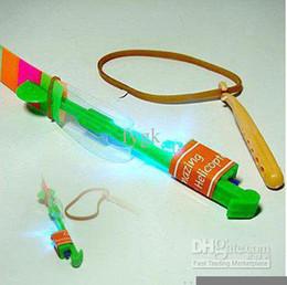 100pcs lots Amazing LED arrow helicopter Flying umbrella New toy LED light up toys children toys