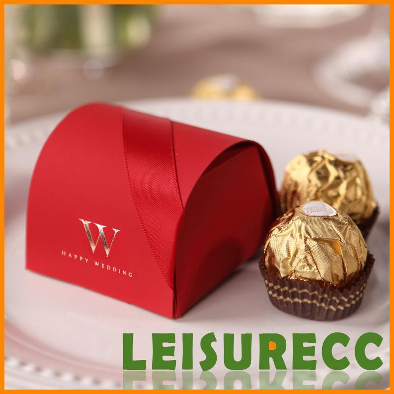 Small Gift Boxes Paper Red New Creative High End Free Shiping Wedding Candy Bags Hq0116