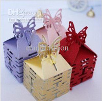 Favor Boxes Pink Paper Hot Sale Wedding Favor Holders Candy Boxes Wedding Favors Hollow heap cute favor holders