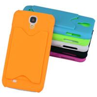 Plastic For Samsung  Credit ID insert Card Plastic hard Case Cover Skin for Samsung S4 IV i9500 100pcs 200pcs