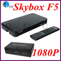 Wholesale Original Skybox F5 HD full p satellite receiver Set Top Box support usb wifi youtube GPRS FTA Multi CAs LAN USB PVR