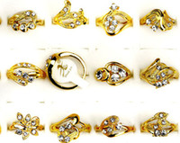 Wholesale Fashion Jewelry Rings Jewellery Mix Gold Plated Australia Rhinestone Women s Rings CZ51