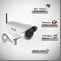Wholesale Outdoor Waterproof Web Camera Wireless Alarm Video Camera Tenvis IP391W IR Cut