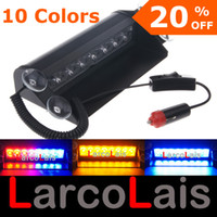 Wholesale LarcoLais Blue Amber White Red Green LED Strobe Flash Warning Police EMS Car Truck Light Flashing Firemen Fog Lights LED