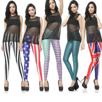 Wholesale Fashion Women Fish Scale Mermaid Printed Sexy Leggings Skinny Tights