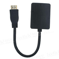 Wholesale Measy H2V P HDMI to VGA convertor cable audio No external power supply