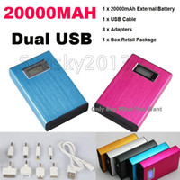 Wholesale Best Metal Power Bank Portable mAh External Battery Backup Cell Phone Charger Pack Universal Dock Dual USB For Mobile Phone Laptop