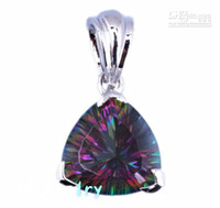 Wholesale amp Retail Gorgeous Any woman will love it Mystic Topaz Sterling Silver Gemstone Penda