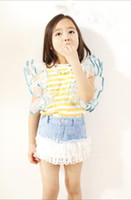 Wholesale sweet girls fashion t shirt skirt sets kids lovely suits children summer garment girls popular