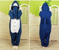 Wholesale Kigurumi Unisex Animal Cosplay Pajamas Costumes Onesie Sleepwear Shark S M L XL