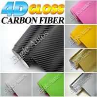 Wholesale 4d carbon fiber vinyl car wrapping vinyl roll film carbon With Air Free Bubbles