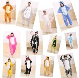 Wholesale Kigurumi Pajamas Animal Pyjamas Cartoon Cosplay Costume Coral Fleece Animal Sleepwear Sleepwears styles DropShip Retail