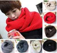 Wholesale Scarfs For Women Hood - Knit Scarf Lady Winter Warm Hood Long Cowl Neck Warmers Scarf Shawl 7 Colors Best Gifts For Women C0214