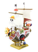 One Piece New Year  Retail One Piece Thousand Sunny Pirate ship Model PVC Action Figure Toy 35cm