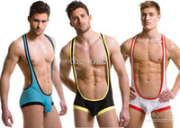 Wholesale Retail hot sexy men taste conjoined vests pants jump suit for men sexy underpants for man freeshippi