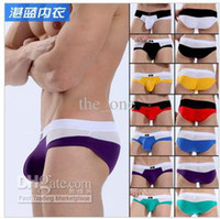 Wholesale Men with lower triangular pants cotton mesh breathable cotton fabrics colors mixed