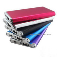 Wholesale High Quality Universal Thin Power Bank mAh External Battery Backup Charger USB Portable For iPad iPhone HTC Smart Phone