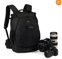 Wholesale 2 colours Black Green Lowepro Flipside AW Photo Bag Digita SLR Camera Backpack amp All Weather Cover