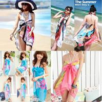 Wholesale Brand new Sexy Pareo Dress Sarong Bikini Cover Up Scarf Wrap Swim swimwear Beach Beautiful Charming Sarong Swimwear Scarf Shawl Sarong