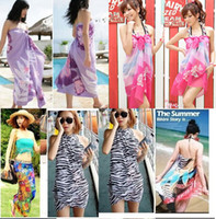 Wholesale New Arrival Sexy Pareo Dress Sarong Bikini Cover Up Scarf Wrap Swim swimwear Beach Beautiful Charming Sarong Swimwear Scarf Shawl Sarong