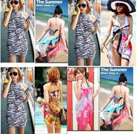 Wholesale multicolor Sexy Pareo Dress Sarong Bikini Cover Up Scarf Wrap Swim swimwear Beach Beautiful Charming Sarong Swimwear Scarf u choose color