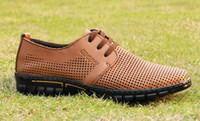 Leather Genuine Leather Genuine Leather Summer men's shoes breathable men casual shoes sandals shoes leather authentic British fashion shoes 1pcs