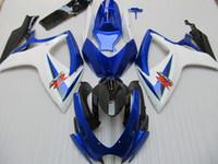 al por mayor suzuki gsxr750 fairing-100% ajuste de moldeado por inyección carenado kit Para SUZUKI 2006 2007 GSX-R600 GSXR750 06 07 GSXR 600 750 K6 azul Negro Carenado 96Z72