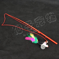 Wholesale Hot sale cat toy Classic style fishing rod Tease cat stick with mice and bell