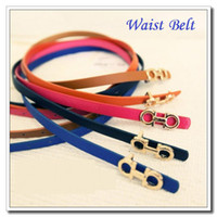 Wholesale High quality Fashion Women Lady s Slender Waist Belt Cute Thin Skinny Waistband Belt PU Leather CM Dropshipping