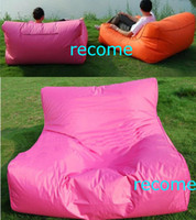 Wholesale Pink garden seat Double seat bean bag lounger extra wide beanbag living room sofa outdoor chair