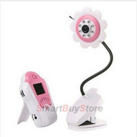 Wholesale pink Wireless Baby monitor GHz digital video baby monitor inch baby monitor with flower camera