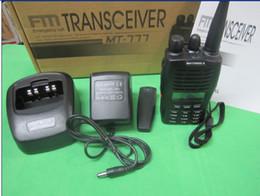 Acheter en ligne Deux radios bidirectionnelles vente-La vente chaude 100% MT777 UHF / VHF Émetteur-récepteur portatif portable FM radio bidirectionnelle 128CH walkie talkie i