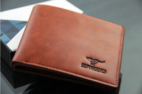 Wholesale wallets New Mens Coffee Mens short Wallet Leather Pockets Card Clutch Center Bifold Purse Brown