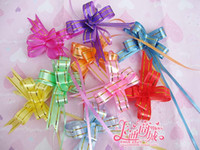 pull bows - Golden Stripe cm Pull Flower Color Ribbon Bow Party Ornament Christmas Gift Wrap