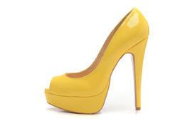 Rouges à semelles chaussures habillées en Ligne-Envoi gratuit 2014 Woman orteils peep sexy mode hauts talons pour les femmes semelle rouge chaussures habillées véritable concepteur de cuir