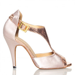 Wholesale The new price spike in women s wear costumes high heeled shoes Latin dancing shoes soft bottom Plaza ballroom latin dance shoes authentic ro