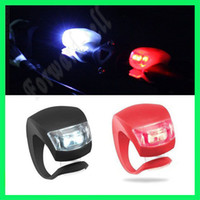 Wholesale LED Flash Silicone Bike Bicycle Cycling Head Front Rear Wheel Light Lamp