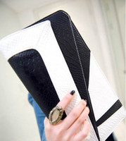 Wholesale NEW Lady handbag women New Korean black white clutch purse shoulder bag MYY4316