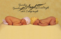 angels graphics - New Listing quot Guardian Angel quot Wall Quotes Stickers x100cm Wall Art Stickers Baby Room Wall Decal Kids Wall Stickers
