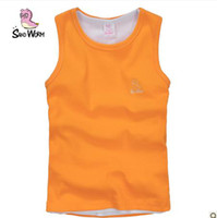 7T-8T 100, 100, 110, 130, 140, 150 neutral  The new 2013 children round collar sleeveless T-shirt boys tight-fitting vest vest in the summer of the girls baby clothes