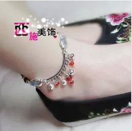 New fish red agate bells female double silver anklets Anklets
