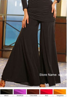 Shirred bell bottom dance pants - D125 Multi Color Choices Customized Loose Ballroom Dancing Pants Big Sizes Dance Pants Training Pants Bell bottom Trousers
