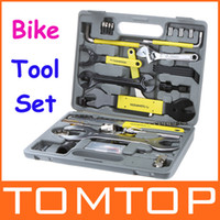 Wholesale ROSWHEEL Bike Bicycle Repairing Tool Set Kit Case Box for Mountain Road Bicycle H9435 DHL