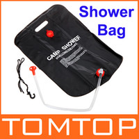 Wholesale 2013 New Arrival L Camping Hiking Solar Heated Camp Shower Bag Outdoor Shower Water Bag H9437