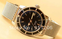Wholesale Superocean Heritage Black Bezel MINT Automatic MEN S MENS WATCH WATCHES A13320 world famous brand wa