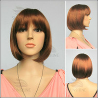 Wholesale color stylish Fashionable BOB wigs synthetic wig close to human hair wigs