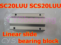 Wholesale 10pcs mm SC20LUU SCS20LUU Linear Ball Bearing Pillow Bolck Linear unit for CNC